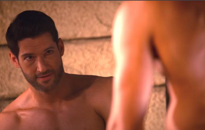 "Tom Ellis in the Netflix trailer for ""Lucifer."""