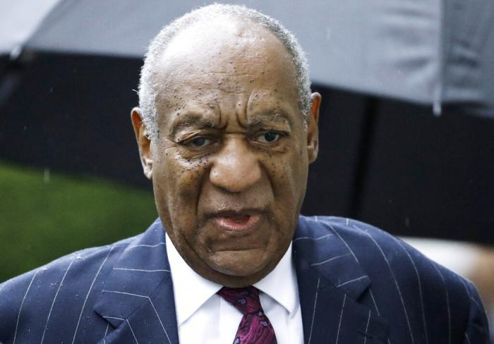 Bill Cosby arrives for a sentencing hearing following his sexual assault conviction. (2018)